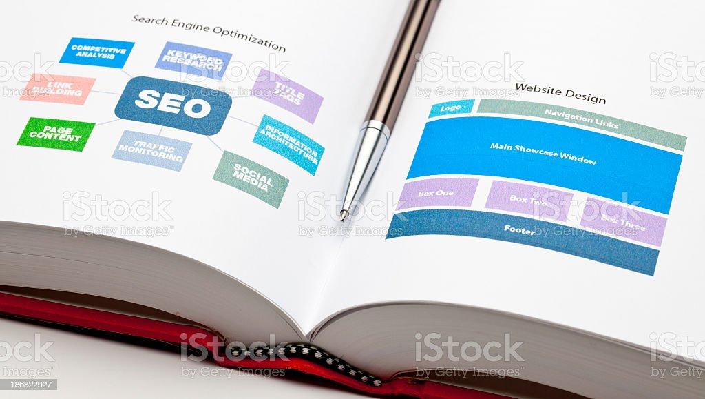 SEO and Web Design royalty-free stock photo