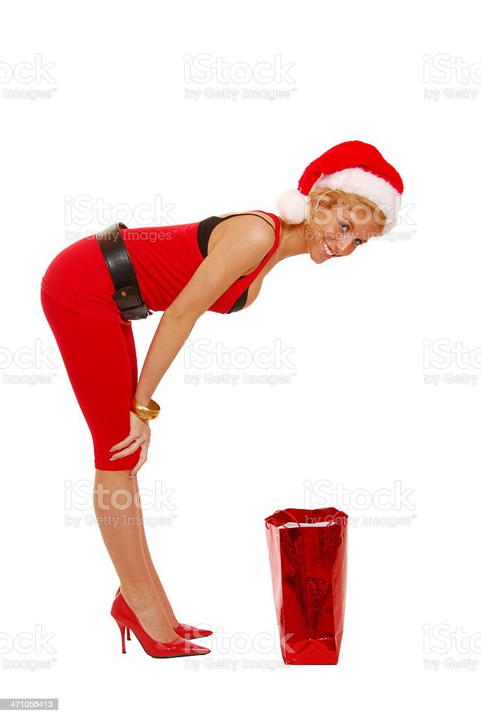 And what Santa girl has for you? royalty-free stock photo