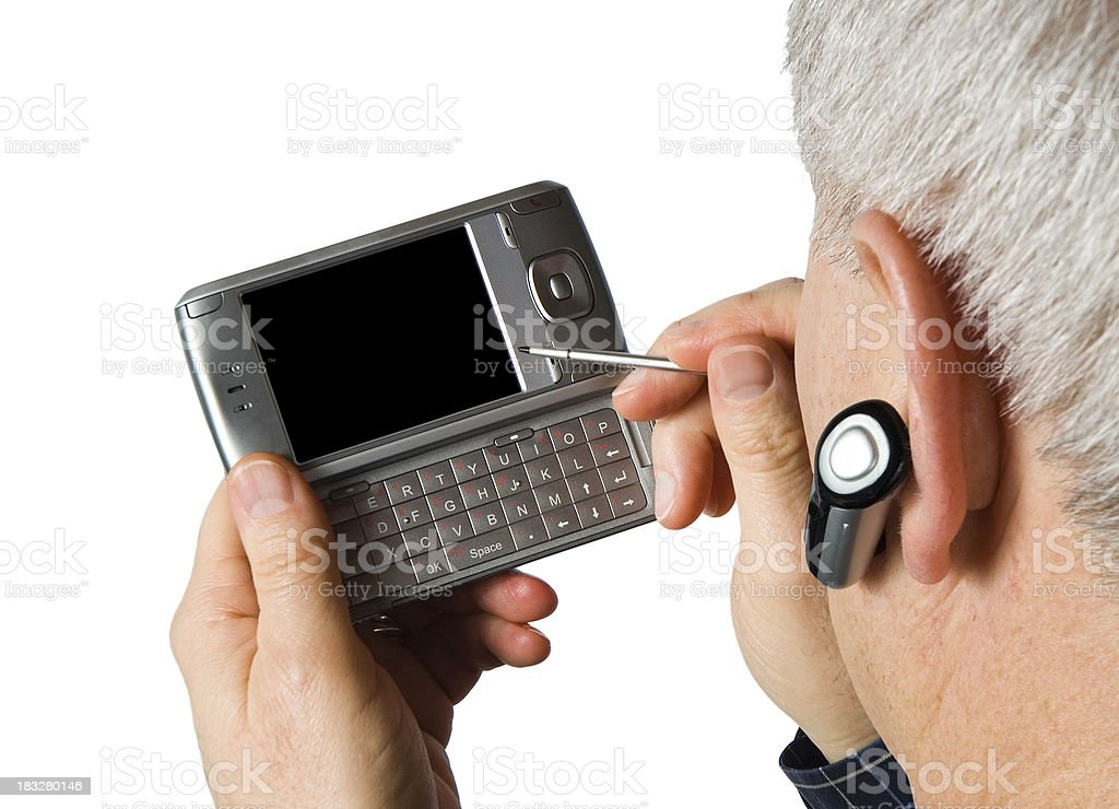 PDA and Wireless Phone - 2 royalty-free stock photo