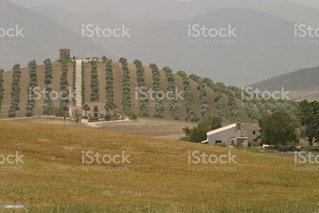 Andalucian Farmland stock photo