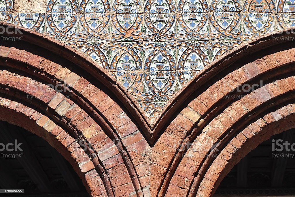Andalucian Tiled Arch, Spain stock photo