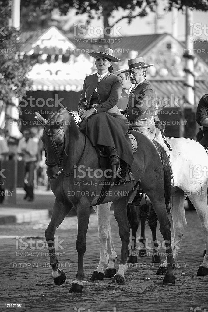 Andalusian amazon April Fair Seville stock photo