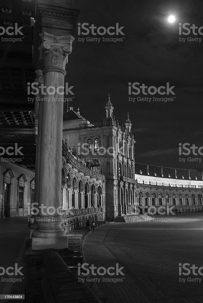 Andalusian architecture by night royalty-free stock photo