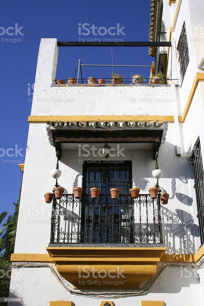 Andalusian balcony royalty-free stock photo