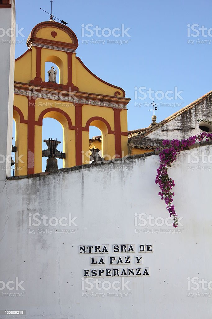 Andalusian Belfry stock photo