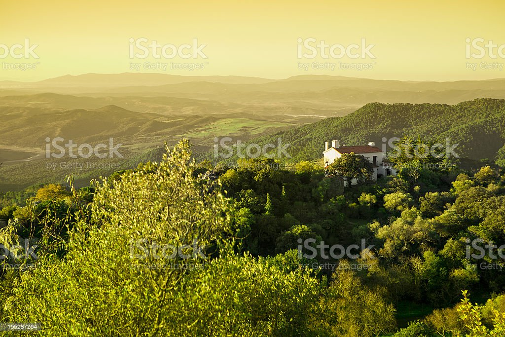 Andalusian Countryside at Sunrise royalty-free stock photo