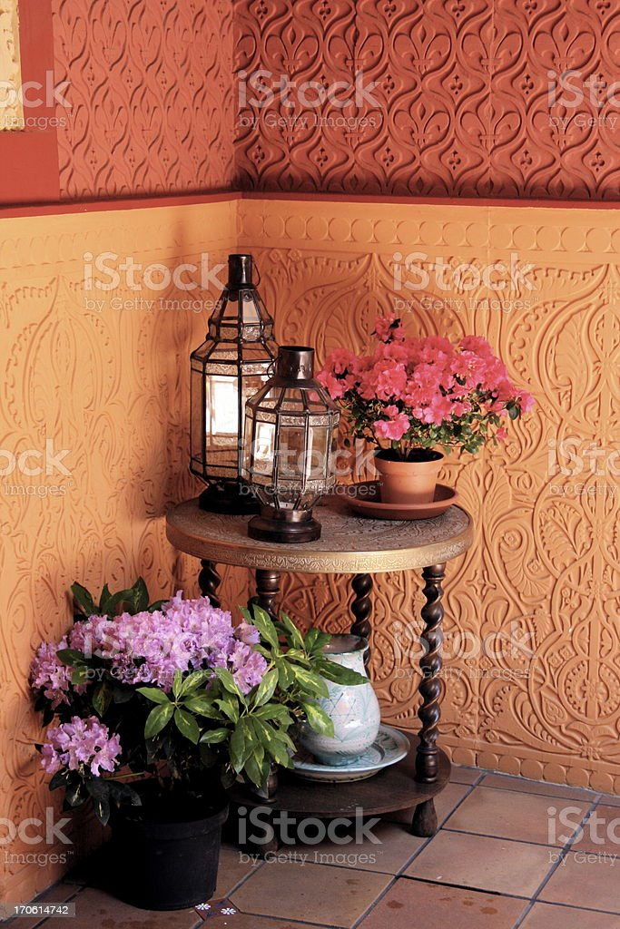 andalusian patio royalty-free stock photo