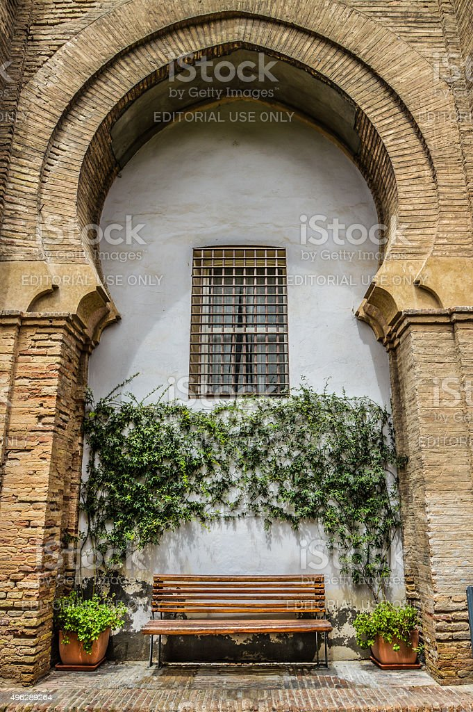 Andalusian Patio - Seville, Spain stock photo