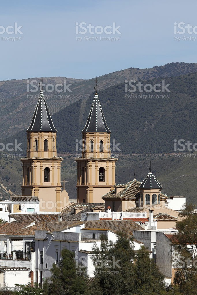 Andalusian village Orgiva, Spain stock photo