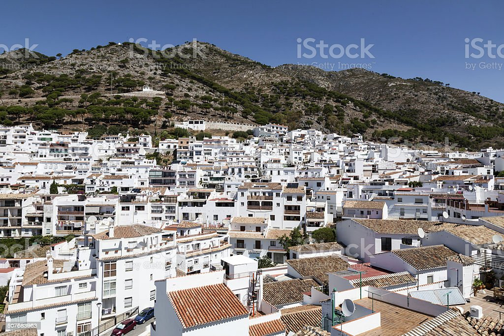Andalusian white villages in Spain stock photo