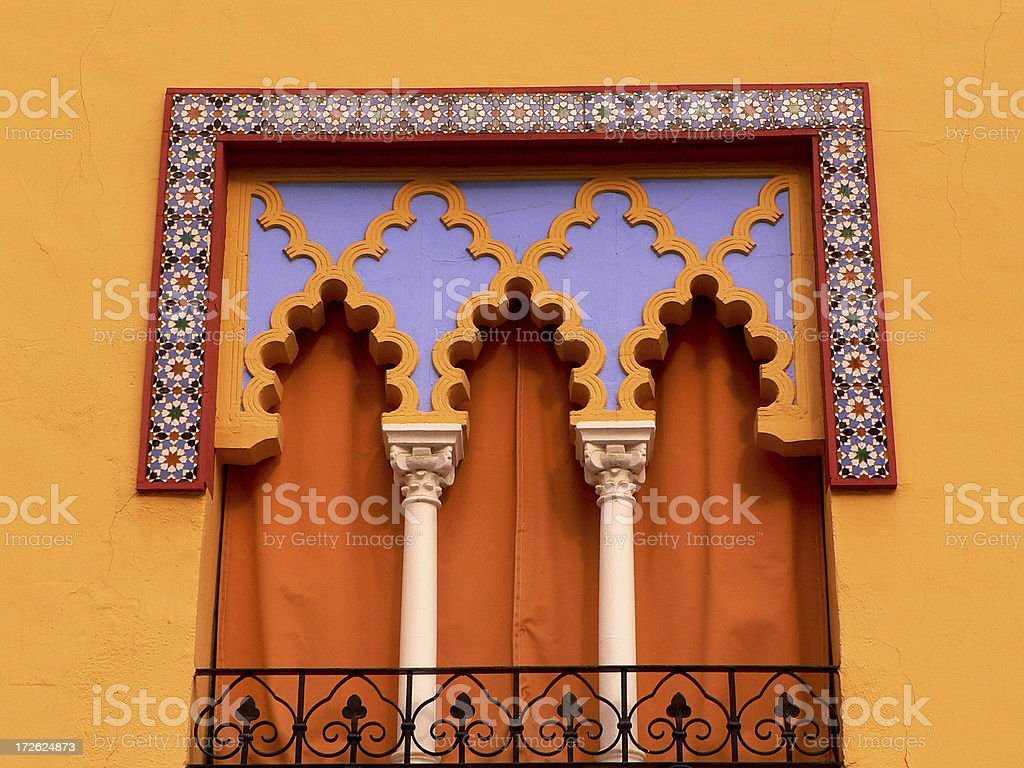 andalusian window royalty-free stock photo