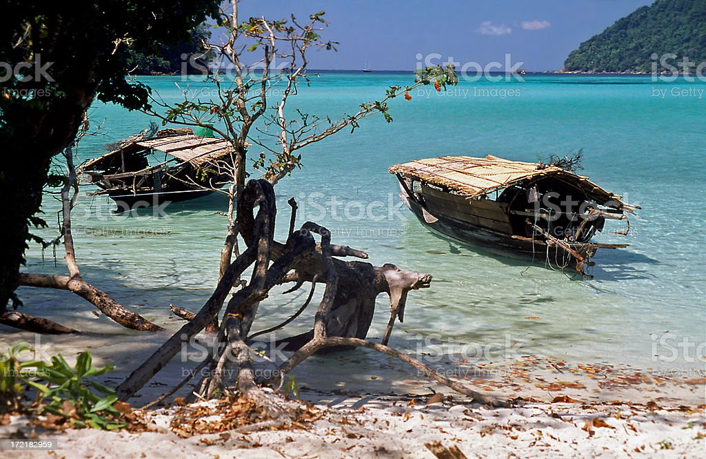 Andaman Boathouses royalty-free stock photo