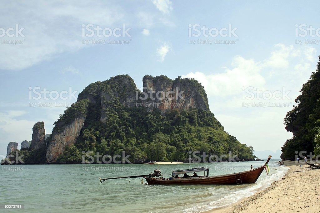andaman islands longtail boat thailand royalty-free stock photo