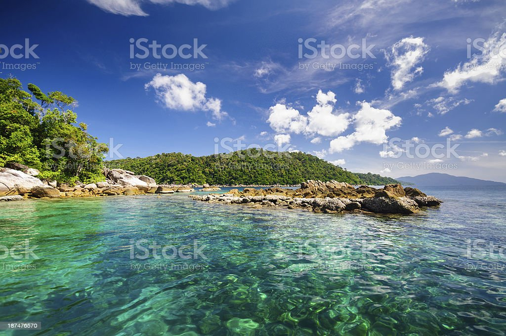 Andaman sea and island. stock photo