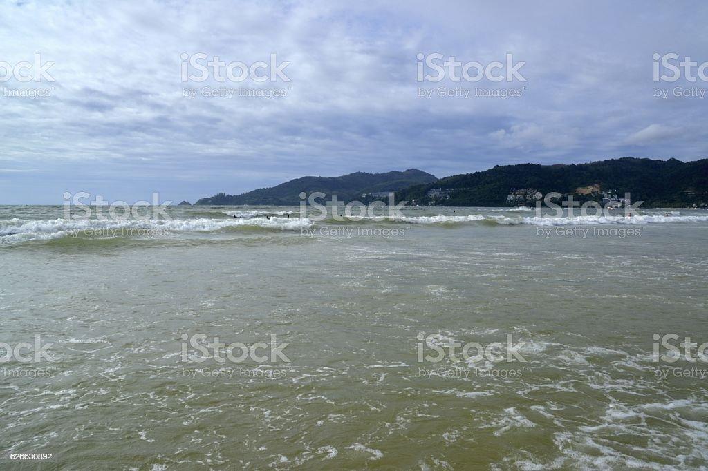 Andaman sea at Patong beach, Phuket stock photo