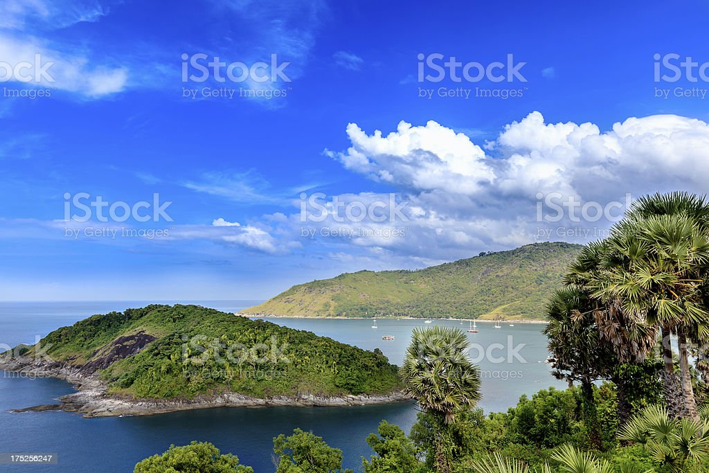 Andaman Sea, Cape Promthep, Phuket, Thailand stock photo