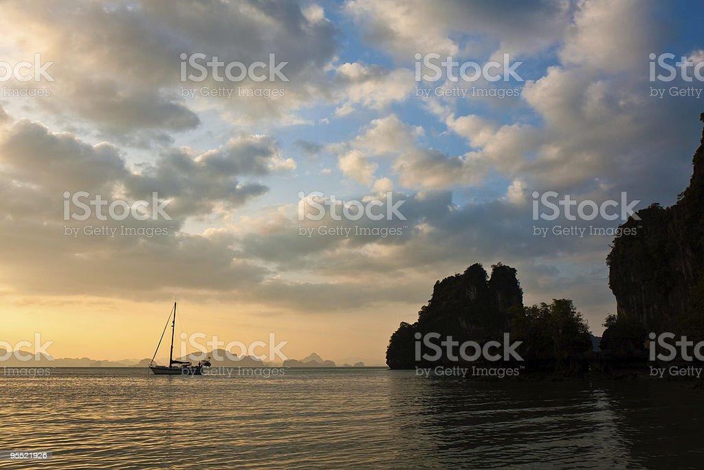 Andaman Sea Sunset royalty-free stock photo