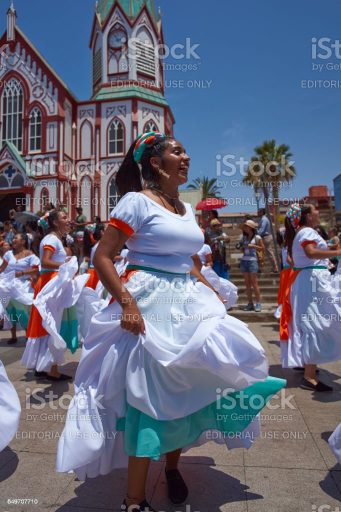 Andean Carnival in Chile stock photo