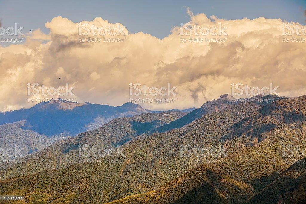 Andean Highland Landscape, Ecuador stock photo
