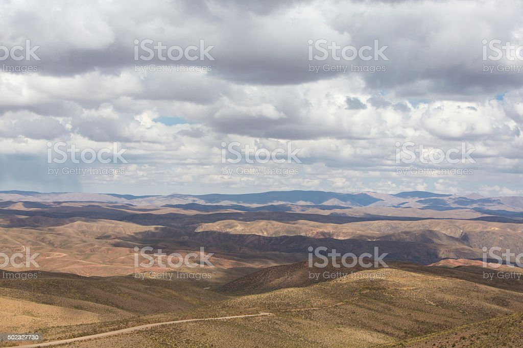 Andean Mountains and the Altiplano, Bolivia stock photo