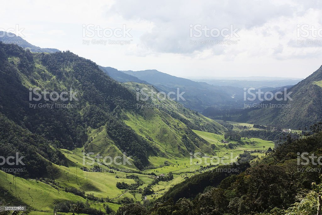 Andean mountains and valleys royalty-free stock photo