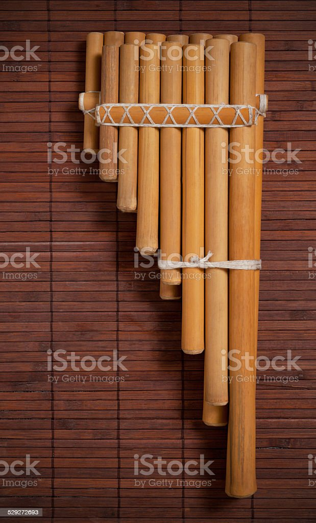 Andean pan flute. stock photo