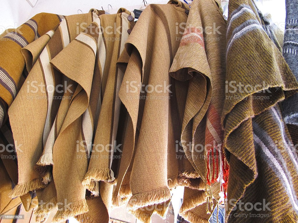 Andean ponchos stock photo