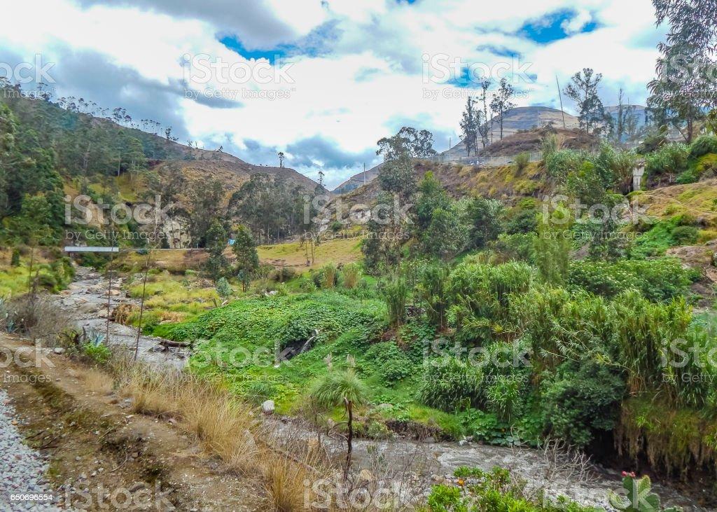 Andean Scene Alausi Ecuador stock photo
