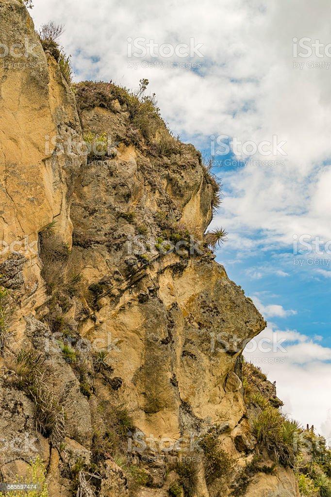 Andean Town Landscape Scene Azuay Ecuador stock photo