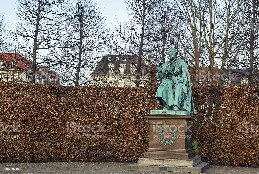 Andersen statue, Copenhagen royalty-free stock photo