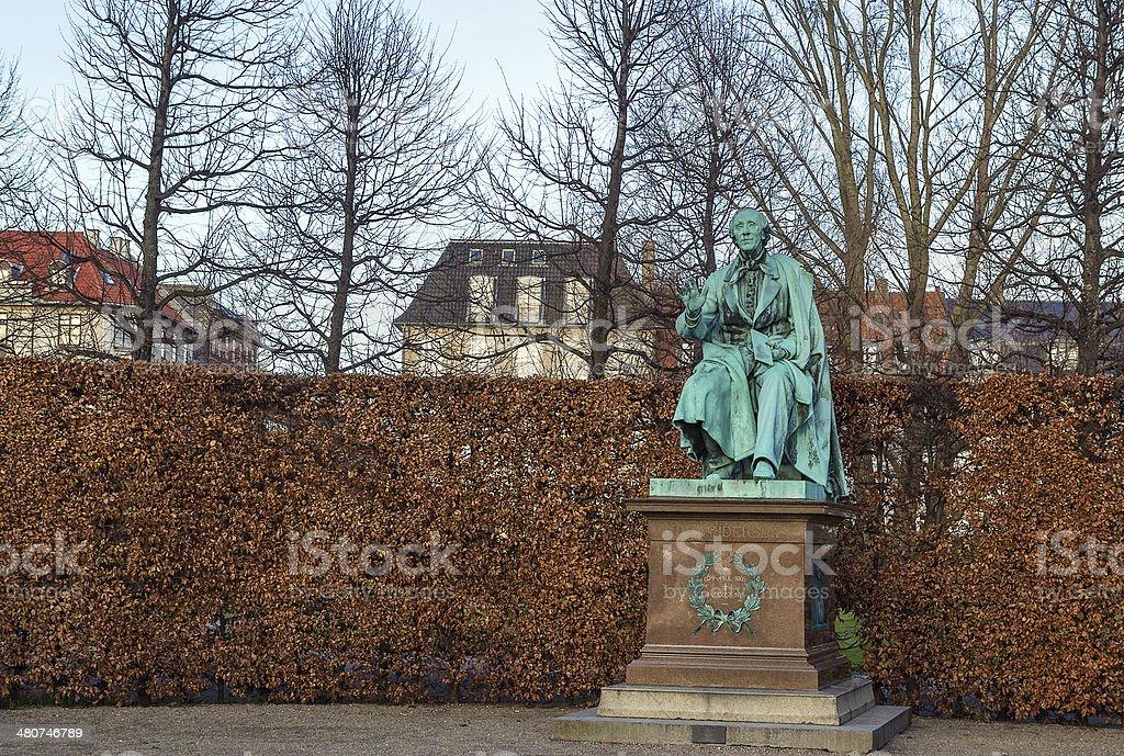 Andersen statue, Copenhagen stock photo