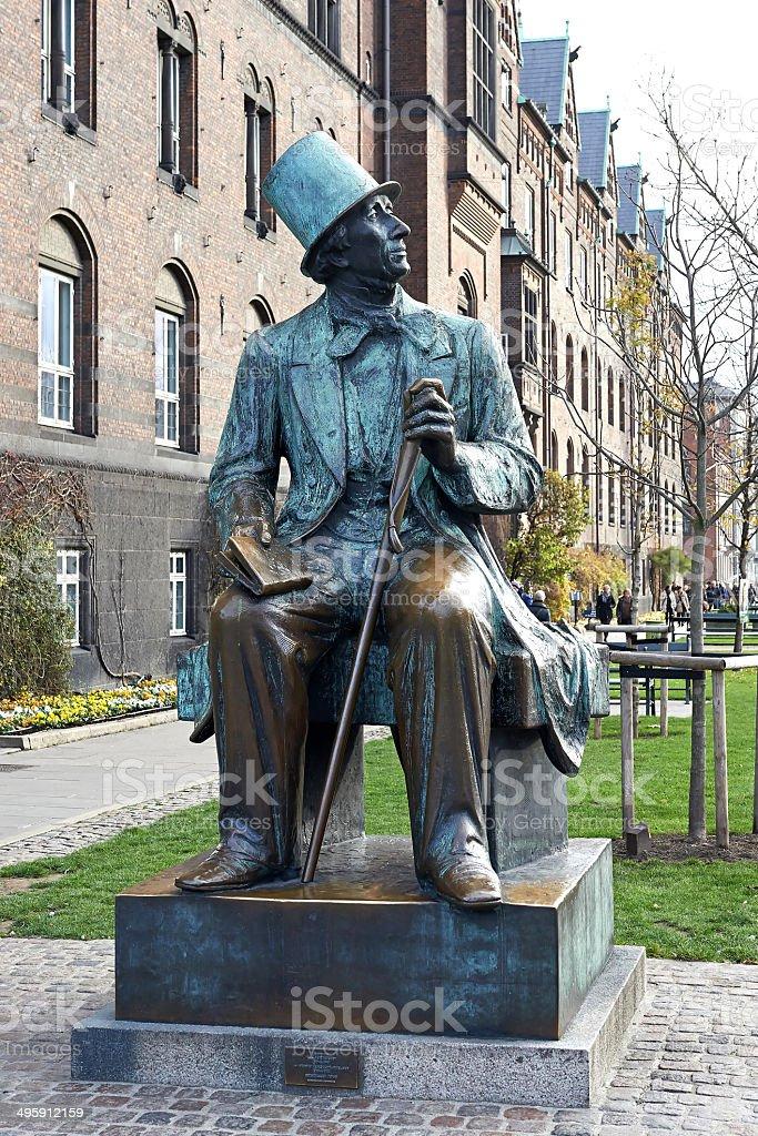 H.C. Andersen statue in Copenhagen, Denmark stock photo