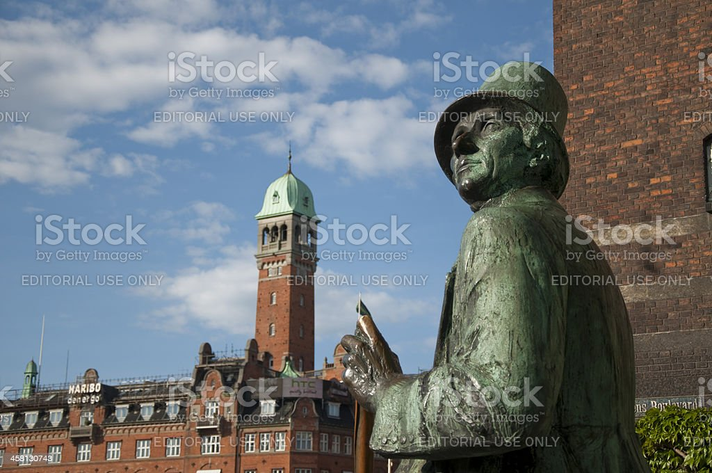 Andersen Statue in Copenhagen royalty-free stock photo