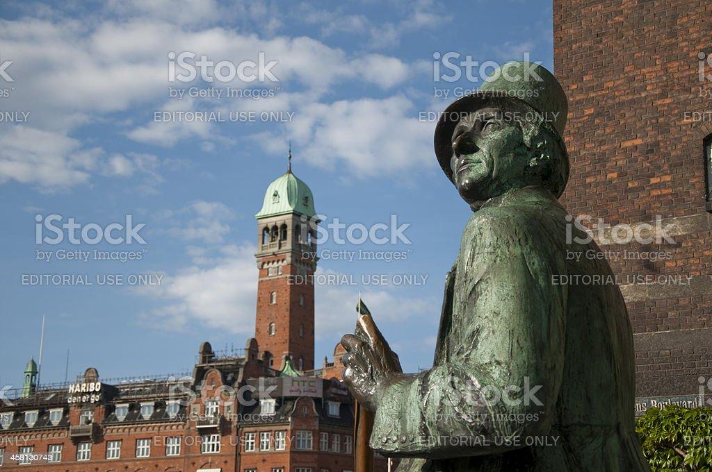 Andersen Statue in Copenhagen stock photo