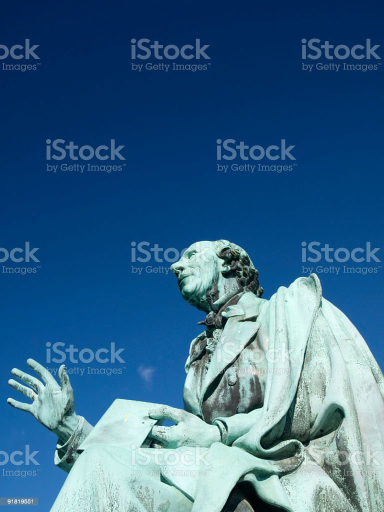 H. C. Andersen telling a story royalty-free stock photo