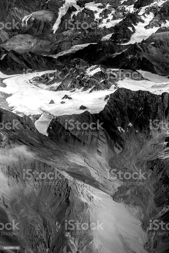 Andes Glaciar stock photo