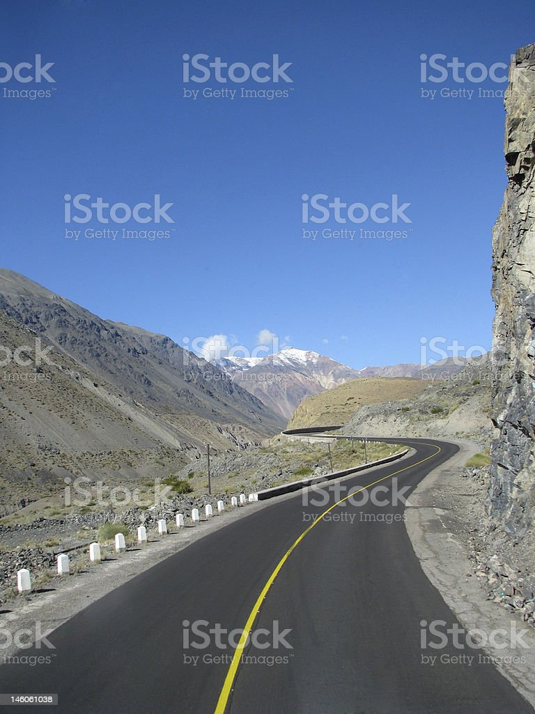 Andes highway stock photo