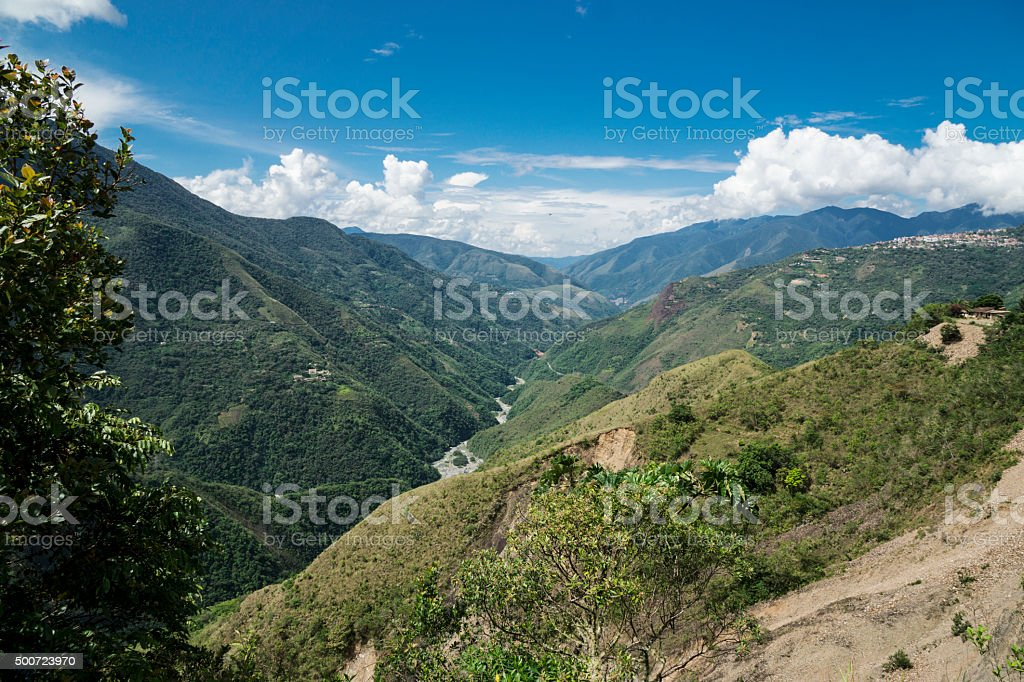 Andes la Paz stock photo
