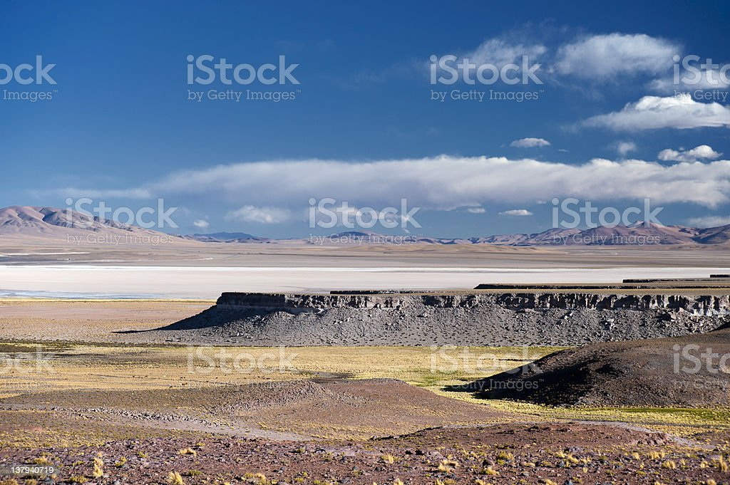 Andes Landscape stock photo