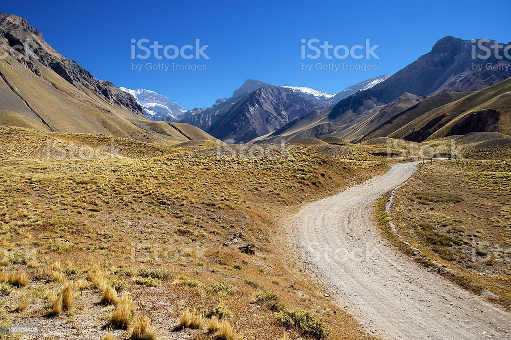 Andes Mountains - Aconcagua National Park royalty-free stock photo