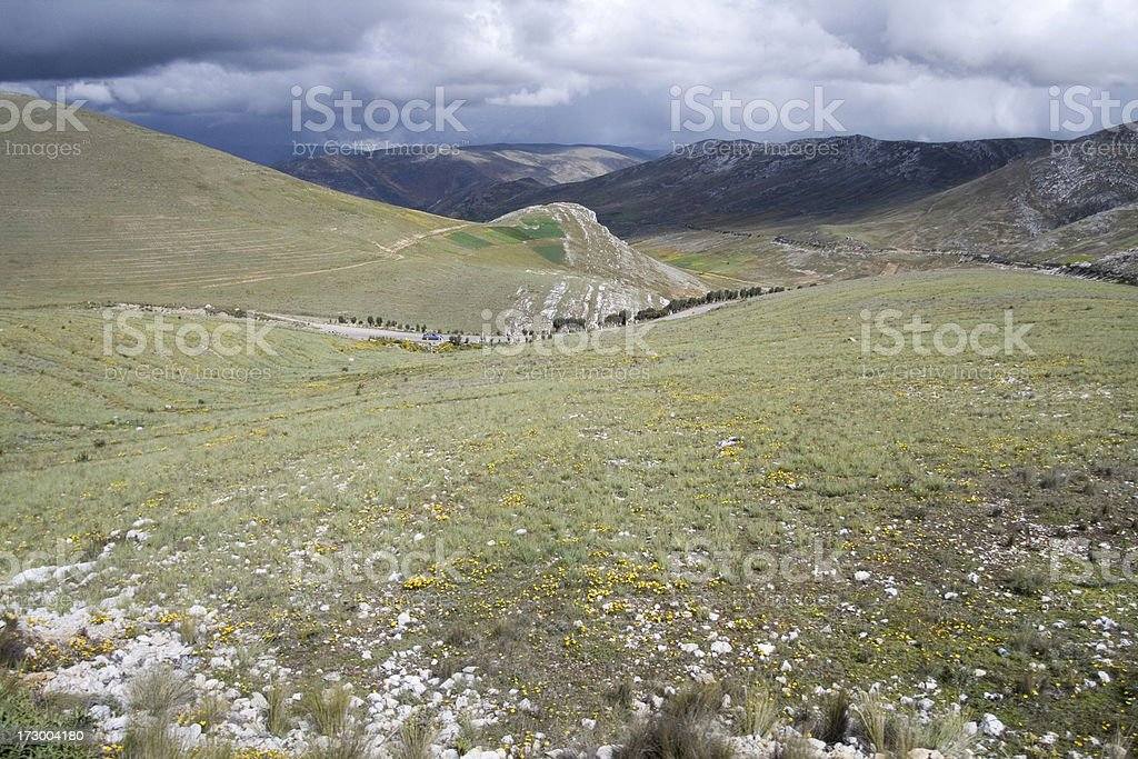 Andes Mountains Landscape royalty-free stock photo