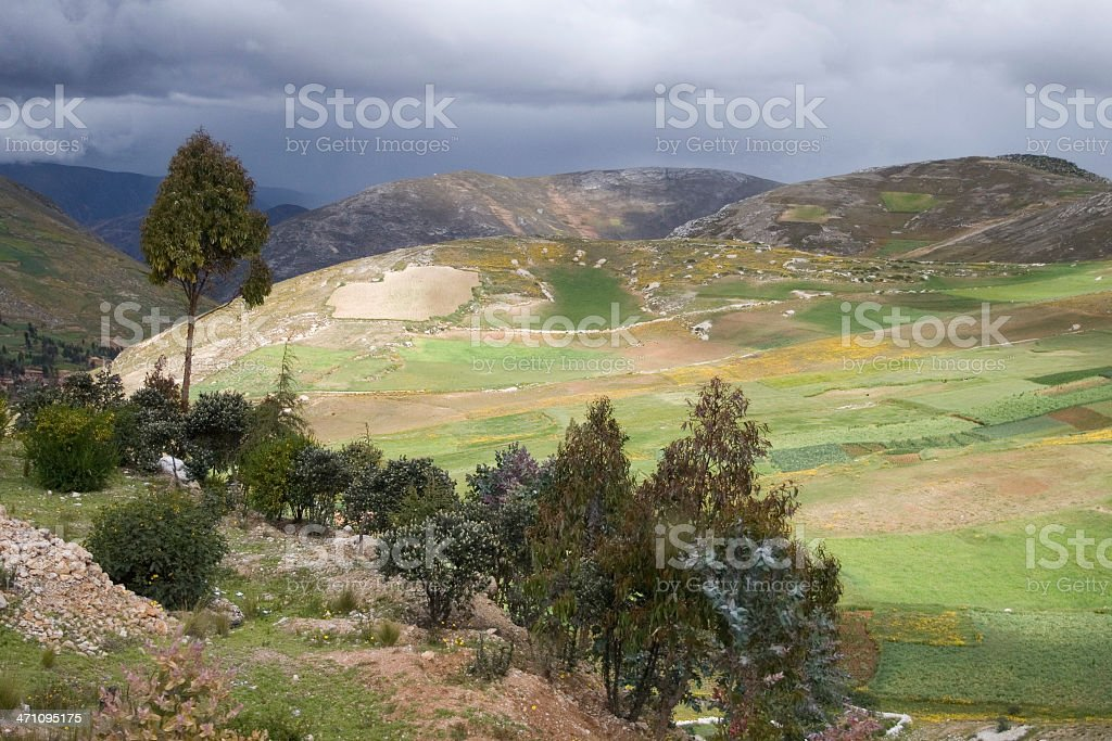 Andes Mountains, Peru royalty-free stock photo