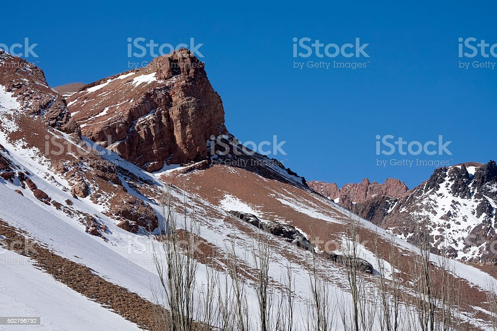 Andes mountains stock photo