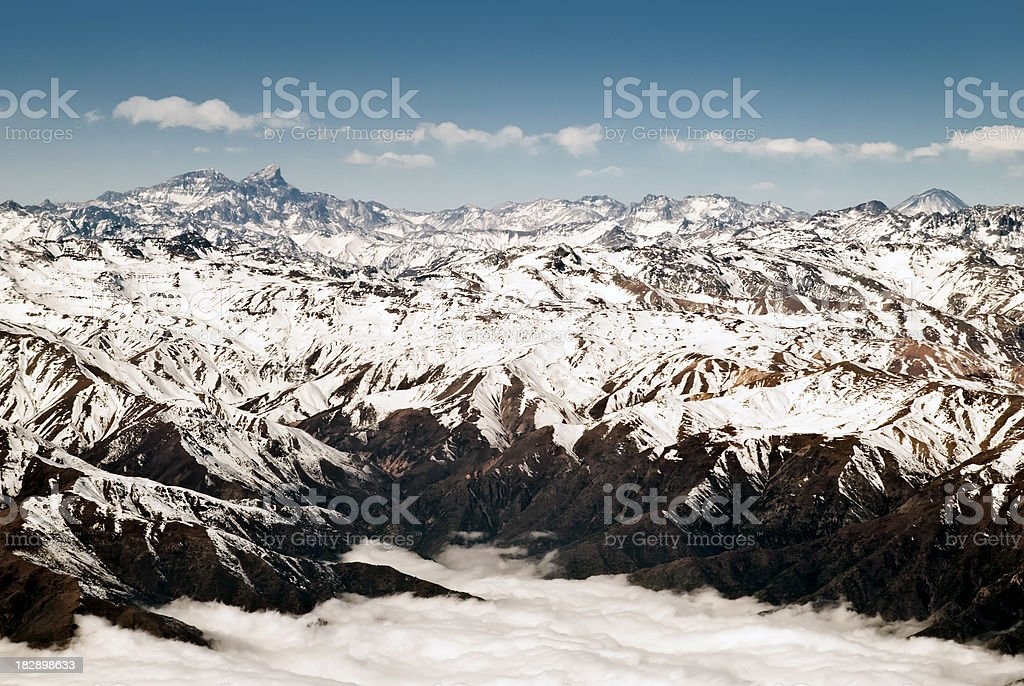 Andes Moutain Range royalty-free stock photo