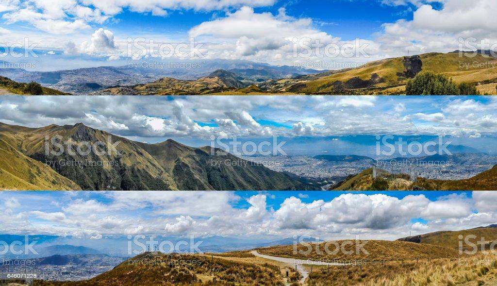 Andes Panoramic Landscapes Quito Ecuador stock photo