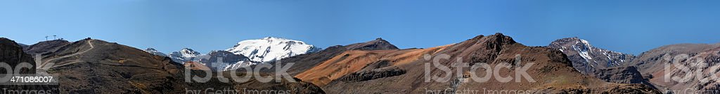 Andes wide panorama royalty-free stock photo