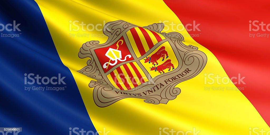 Andorra flag. royalty-free stock photo