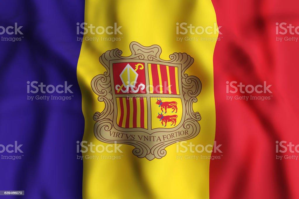 Andorra flag waving stock photo
