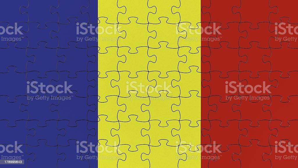 Andorra National Flag royalty-free stock photo