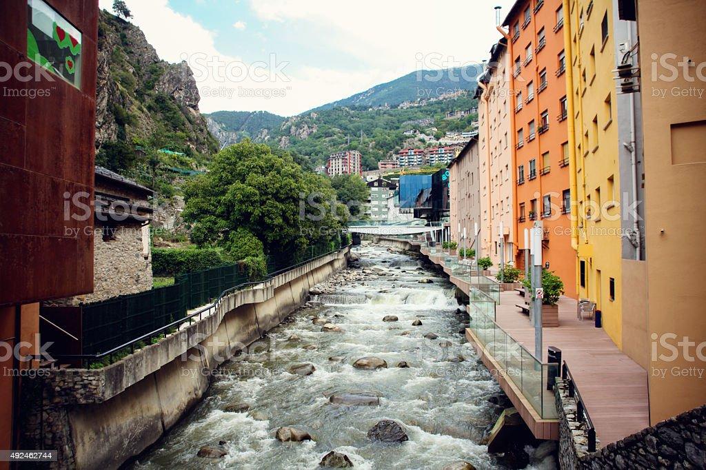 Andorra river stock photo